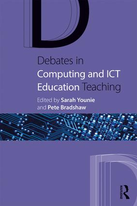 Book cover: 'Debates in Computing and ICT Education Teaching'